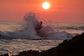 Brain Center, waves, ocean, sunset